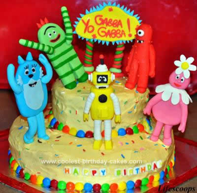 Sensational Coolest Yo Gabba Gabba Birthday Cake Funny Birthday Cards Online Inifofree Goldxyz