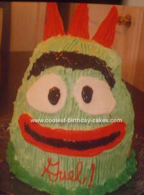 Homemade Yo Gabba Gabba Brobee Cake