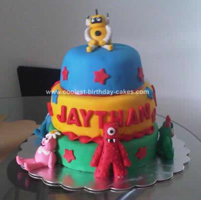 Homemade Yo Gabba Gabba Cake Idea