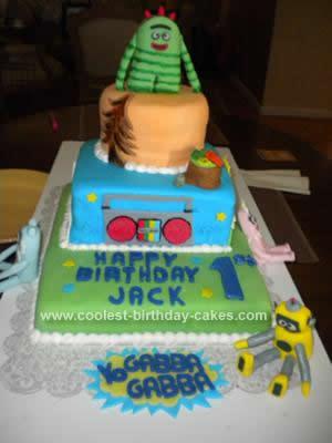 Homemade Yo Gabba Gabba First Birthday Cake