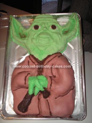 Homemade Yoda Birthday Cake