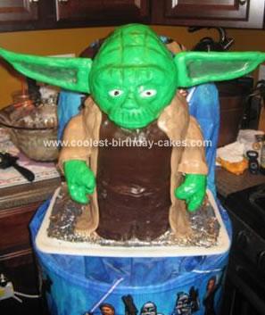 Homemade Yoda Cake