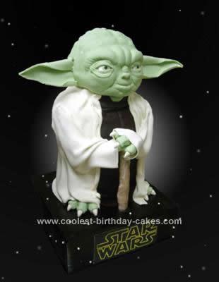 Homemade Yoda Grooms Cake