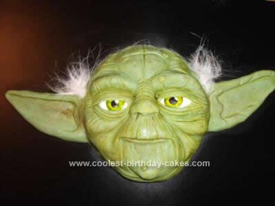 Homemade Yoda Star Wars Theme Cake
