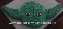 Homemade Yoda's Face Cake