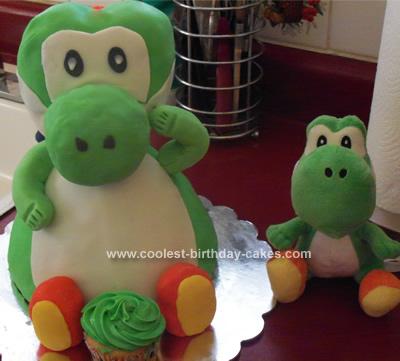 Homemade Yoshi Cake