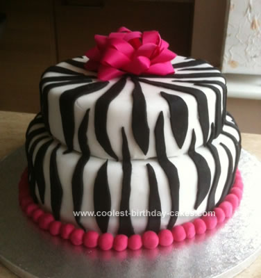 Brilliant Coolest Zebra Print Cake Funny Birthday Cards Online Inifofree Goldxyz