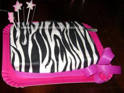 Miraculous Coolest Zebra Print Cake Funny Birthday Cards Online Alyptdamsfinfo