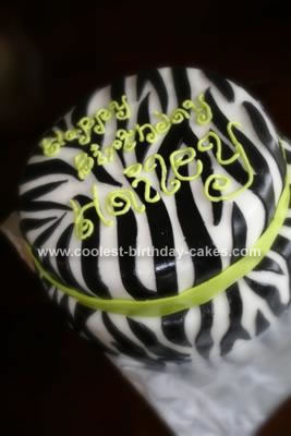 Homemade Zebra Print Cake