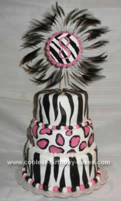 This Zebra Print Cake Design Was For My Granddaughters 8th Birthday She Saw Several Online That Liked Parts Of But Not The Whole