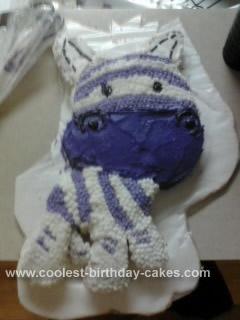 Homemade Zebra Stripes Birthday Cake