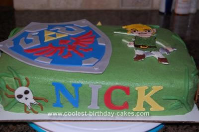 Homemade Zelda's Ocarina of Time Cake