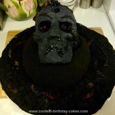 Homemade Zombie Cake