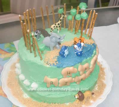 Enjoyable Coolest Zoo Birthday Cake Funny Birthday Cards Online Amentibdeldamsfinfo