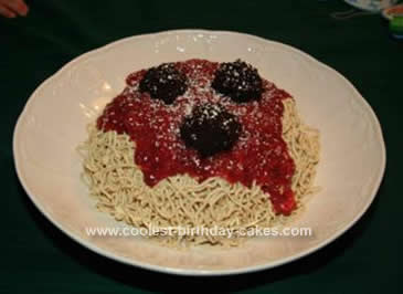 Homemade Lady & The Tramp Spaghetti Cake
