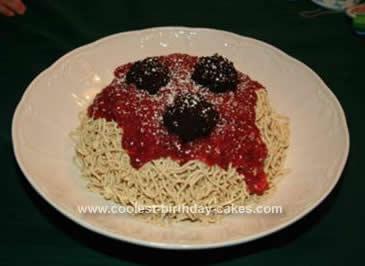 Homemade Lady & The Tramp Spaghetti Cake