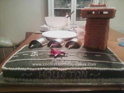 Homemade Jet Birthday Cake Design