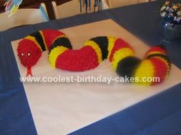 Homemade Coral Snake Cake