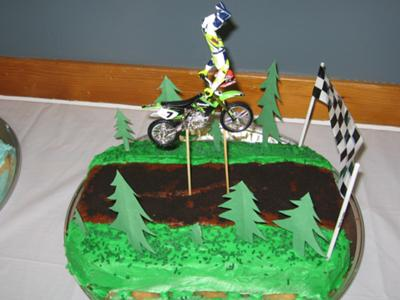 Stupendous Dirtbike Jumps Cake Funny Birthday Cards Online Inifofree Goldxyz