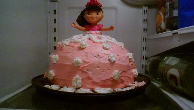 Brilliant Dora 3Rd Birthday Homemade Cake Personalised Birthday Cards Xaembasilily Jamesorg