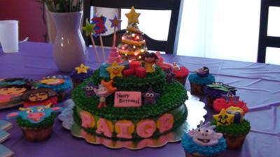 Awesome Doras Christmas Birthday Cake Personalised Birthday Cards Xaembasilily Jamesorg