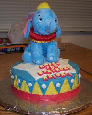Dumbo On Circus Stand Cake