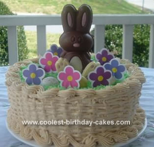 Pleasant Easter Bunny Basket Cake Funny Birthday Cards Online Fluifree Goldxyz
