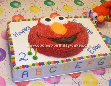 Elmo's Alphabet Cake