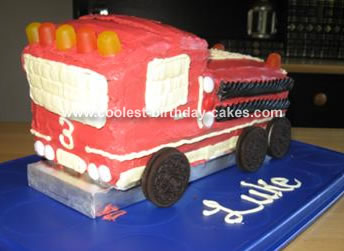 Fire Truck Cake 27
