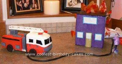 Firetruck Cake to the Rescue