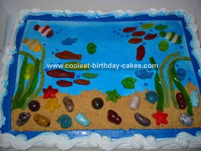 Super Easy Fish and Ocean Cake!