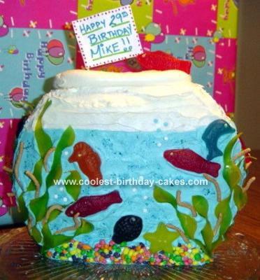 Fish Bowl Cake