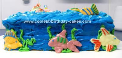 Fish in Ocean Cake