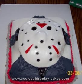 Homemade Friday the 13th Birthday Cake