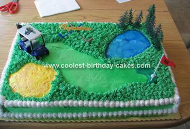 Swell Golf Birthday Cake Birthday Cards Printable Opercafe Filternl