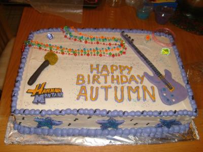 Admirable Hannah Montana Birthday Cake Birthday Cards Printable Inklcafe Filternl
