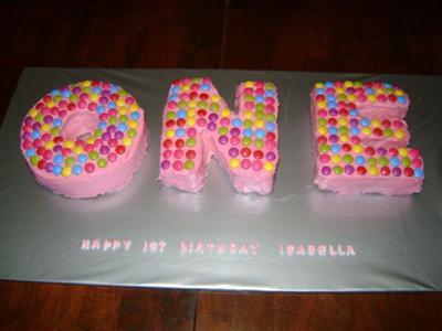 Homemade 1st Birthday Cake 21552395