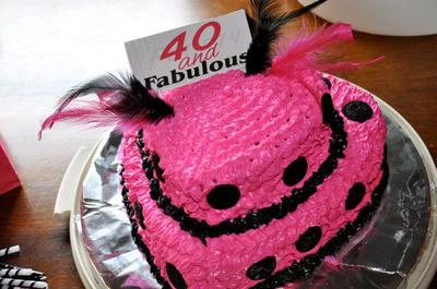 Miraculous Homemade 40Th Birthday Cake Personalised Birthday Cards Cominlily Jamesorg
