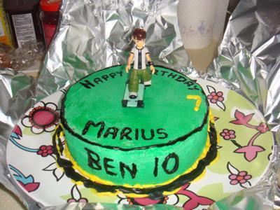 Homemade Ben 10 Kids Cake