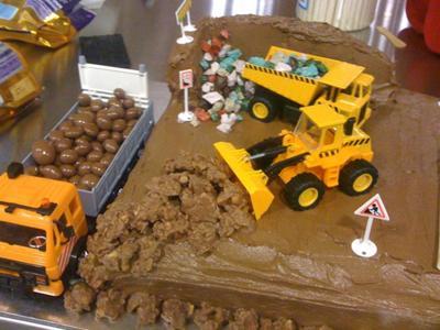 Miraculous Homemade Construction Site Birthday Cake Funny Birthday Cards Online Alyptdamsfinfo