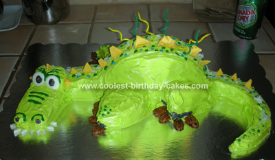 Scary Dragon Cake