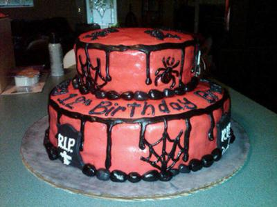 Astounding Homemade Halloween Birthday Cake Funny Birthday Cards Online Barepcheapnameinfo