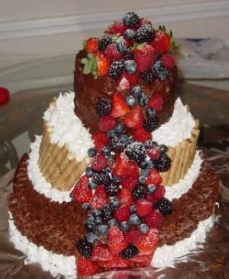Sensational Homemade Leaning Tower Of Fruit Cake Personalised Birthday Cards Veneteletsinfo