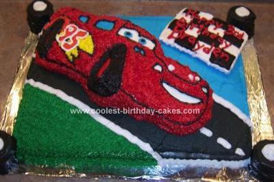 Homemade McQueen Cake