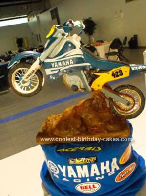 Homemade Dirt Bike Cake