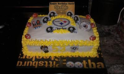 Stupendous Homemade Pittsburgh Steelers Birthday Cake Funny Birthday Cards Online Alyptdamsfinfo
