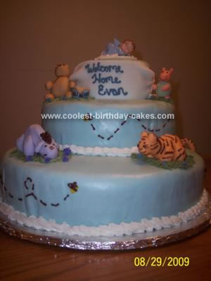 Homemade Pooh Baby Shower Cake