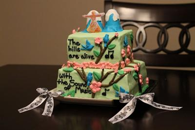 Super Cool Homemade Sound Of Music Cake Funny Birthday Cards Online Aeocydamsfinfo