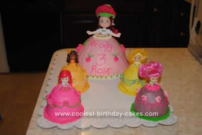 Homemade  Strawberry Shortcake Dress Cakes