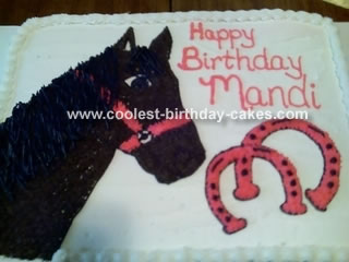 Horse and Horseshoe Cake